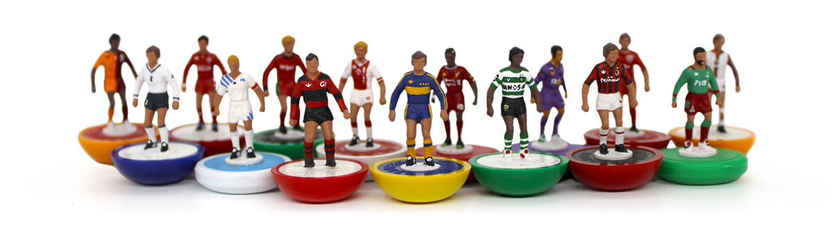 Collection of hand-painted Subbuteo players